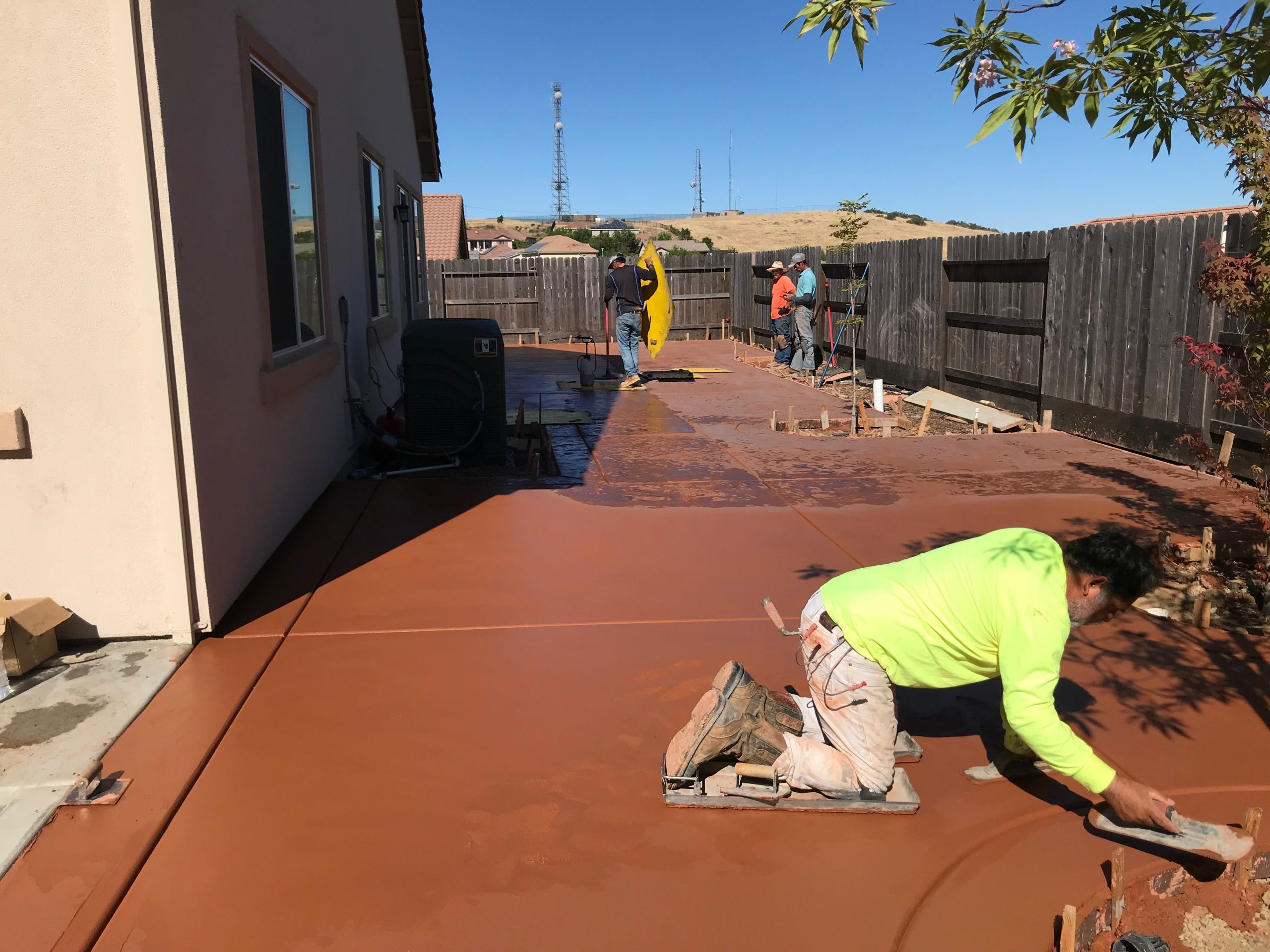 This is a picture of stained concrete contractor in Newport Beach.