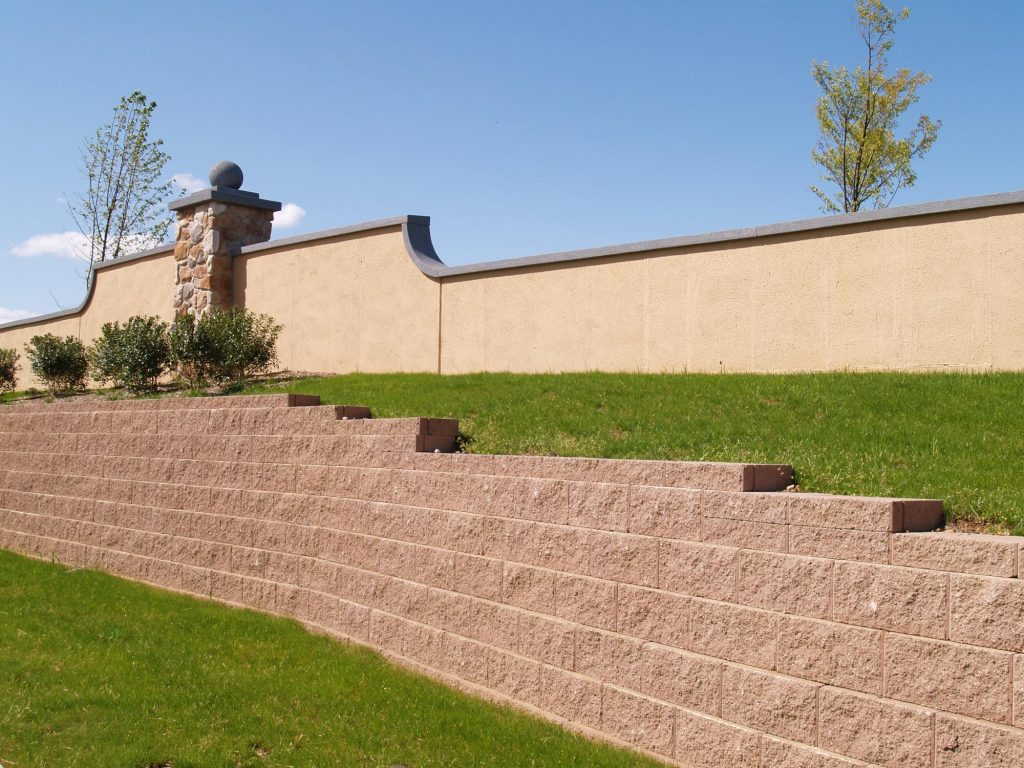 A picture of block wall works in Newport Beach.